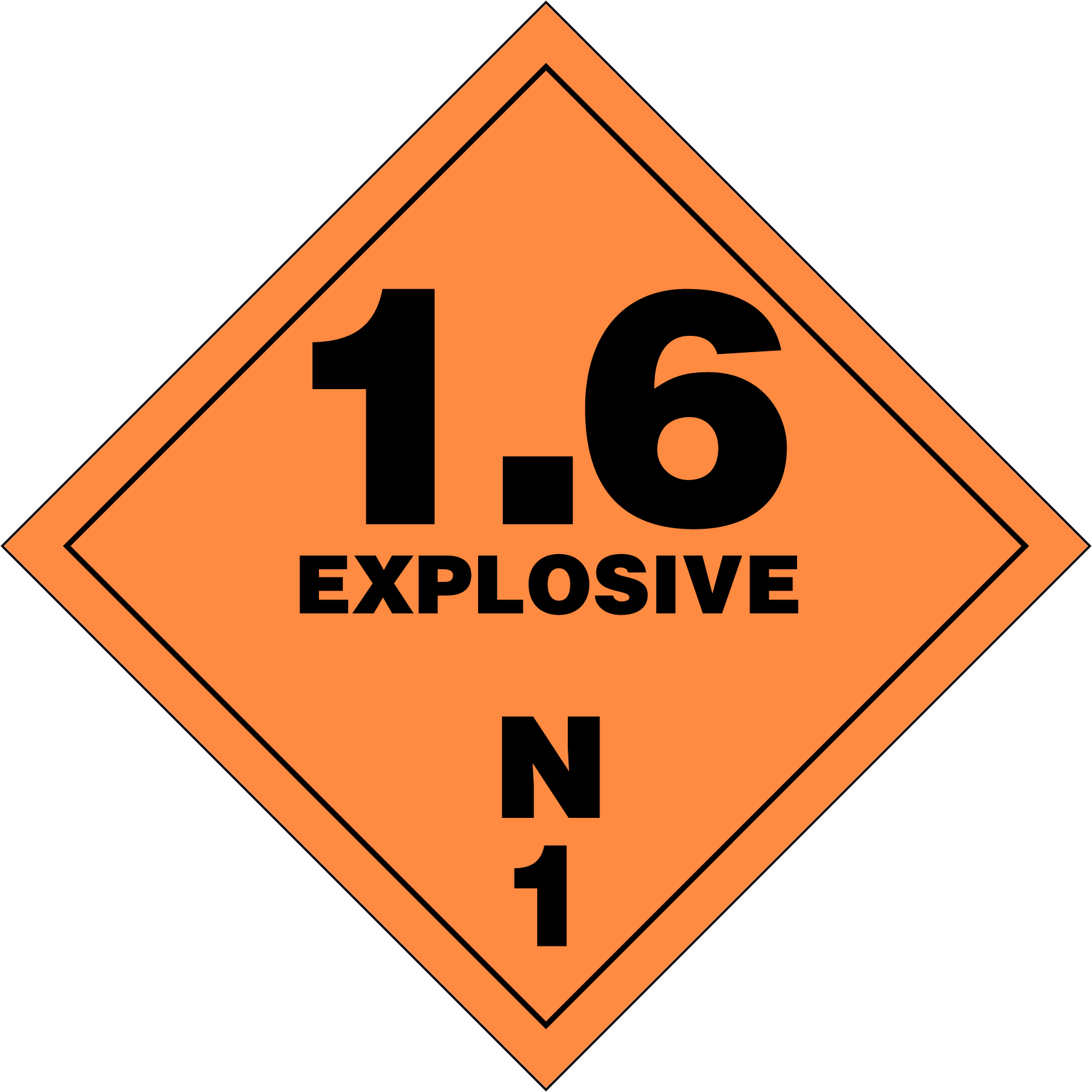 Extremely insensitive explosives (1.6N)